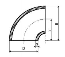 ANSI-Elbow-B169-Long-Radius